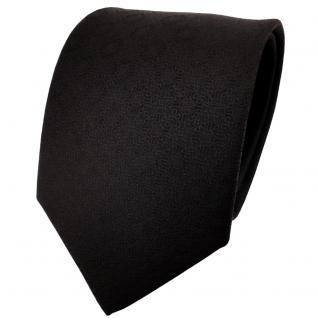 TigerTie Designer Krawatte schwarz uni gemustert - Cravate Tie Binder