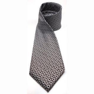 Mexx Designer Seidenkrawatte braun dunkelbraun silber gemustert - Krawatte Seide