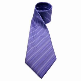 Mexx Seidenkrawatte lila flieder silber gestreift - Krawatte Tie Seide