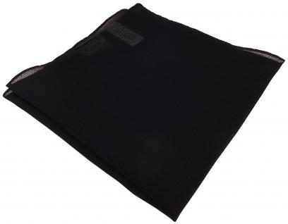 feines kleines Chiffon TigerTie Einstecktuch in schwarz Uni - Tuch 25 x 25 cm