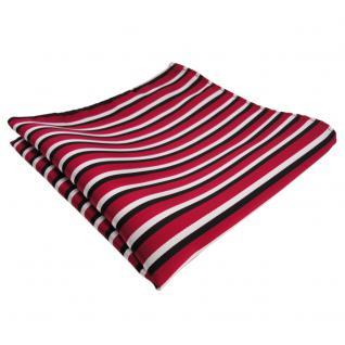 schönes Einstecktuch rot weiss schwarz gestreift - Tuch Polyester