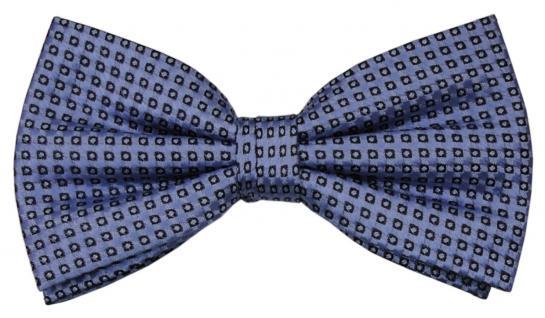 Designer Seidenfliege blau brillantblau royal gepunktet - Fliege Seide Silk