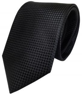 TigerTie Seidenkrawatte in schwarz gepunktet - Krawatte 100% reine Seide / Silk