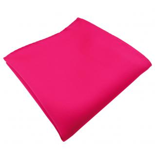 schönes TigerTie Einstecktuch pink knallpink leuchtpink uni - 100% Polyester
