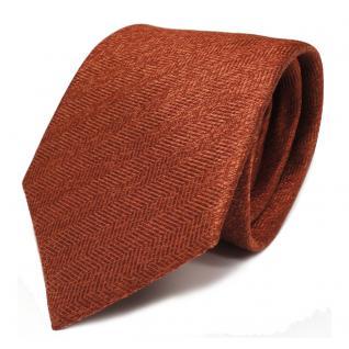 Designer Seidenkrawatte orange rotorange gemustert - Krawatte Seide Silk