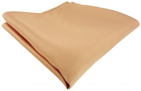 TigerTie Satin Seideneinstecktuch in beige gold bronze - Einstecktuch 100% Seide