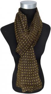 Schal in braun hellbraun gepunktet - Gr. 190 x 100 cm - Tuch Halstuch