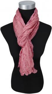 gecrashter Seidenschal in rosa grau gemustert - 100% Seide -160 x 50 cm