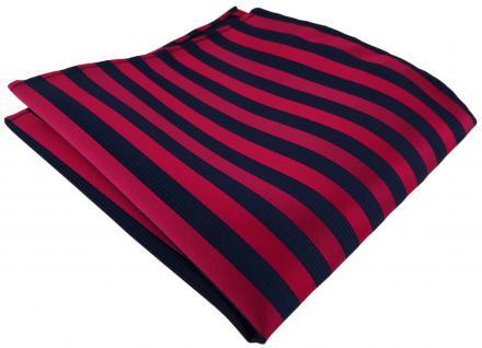 Einstecktuch in rot dunkelrot blau gestreift - Tuch Polyester Gr. 25 x 25 cm
