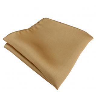 Seideneinstecktuch gold einfarbig - Einstecktuch 100% Seide - Gr. 25 x 25 cm