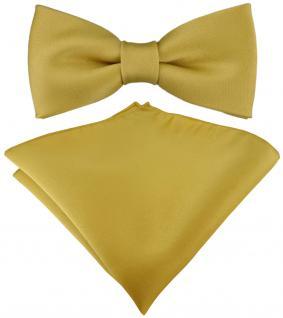 Kleinkinder Baby Fliege in gold mit Gummizug + Einstecktuch + Box
