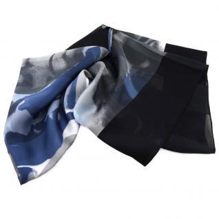 Damen Satin Halstuch blau schwarz anthrazit grau 90 x 90 - Tuch Nickituch Schal