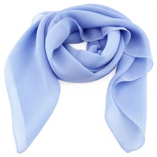 schönes Damenhalstuch hellblau blau himmelblau einfarbig - Tuch Halstuch Schal