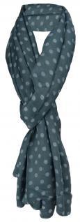 Schal in anthrazit silber grau gepunktet - Gr. 190 x 100 cm - Tuch Halstuch