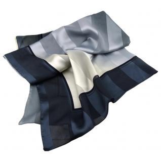 Damen Satin Halstuch grau anthrazit beige schwarz 90 x 90 - Tuch Nickituch Schal