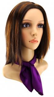 Damen Nickituch in Seide lila einfarbig Gr. 50 cm x 50 cm - Tuch Halstuch Schal