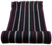 Raschel Schal Strickschal in lila violett türkis schwarz grau creme gestreift