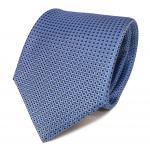 Designer Seidenkrawatte blau hellblau dunkelblau gemustert - Krawatte Seide