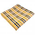 TigerTie Einstecktuch gelb goldgelb schwarz silberweiß kariert - Tuch Polyester