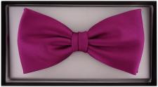 vorgebundene TigerTie Satin Fliege in lila fuchsia Uni einfarbig + Geschenkbox