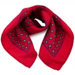 Damen Nickituch in Seide rot verkehrsrot blau gelb 53 x 53 - Tuch Halstuch Schal