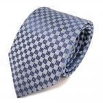 Seidenkrawatte blau fernblau blaugrau gemustert - Krawatte Seide Silk Tie