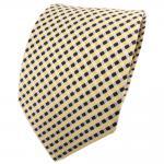 schöne TigerTie Designer Krawatte gelb anthrazit silber gestreift - Binder Tie