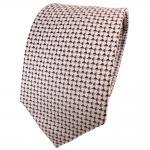 TigerTie Seidenkrawatte braun blassbraun silber grau gemustert - Krawatte Seide