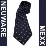 Mexx Seidenkrawatte blau weiss gepunktet - Krawatte 100 % Seide