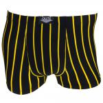 Boxershorts Unterhose Pants Retro Shorts schwarz-gelb Baumwolle Gr. M