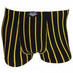 Boxershorts Unterhose Pants Retro Shorts schwarz-gelb Baumwolle Gr.XL