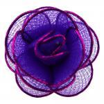 Damen Halstuchhalter Schalhalter lila magenta Rosenform - Tuchhalter Rose