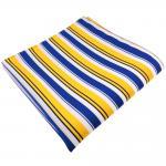schönes Einstecktuch in gelb blau weiss schwarz gestreift - Tuch 100% Polyester