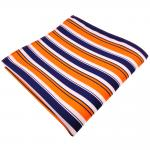 schönes Einstecktuch in orange lila schwarz weiß gestreift - Tuch 100% Polyester