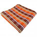 schönes Einstecktuch in orange braun gelb grau weiß gestreift - Tuch Polyester