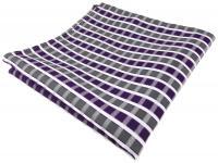 TigerTie Einstecktuch in violett grau silber weiss gestreift