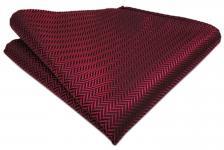 Einstecktuch in der Farbe Weinrot Rot Größe 25 x 25 cm - Tuch 100% Polyester