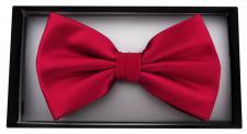 Satin Fliege in rot Uni + Geschenkbox, Schleife 30 cm bis 50 cm verstellbar