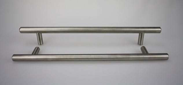 Stangengriff - echt Edelstahl - matt gebürstet - ø 10 mm - diverse Lochabstände