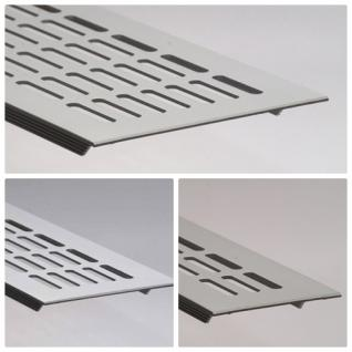 Aluminium Lüftungsgitter Stegblech Silber eloxiert - Länge 2000 mm- div. Breiten