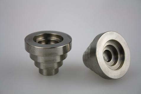 Möbelknopf Schubladenknopf Schrankknopf - massiv Edelstahl - matt gebürstet - Durchmesser 31 mm