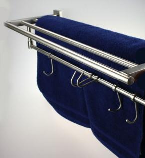Handtuchhalter Handtuchablage aus Edelstahl - matt gebürstet - Länge 595 mm