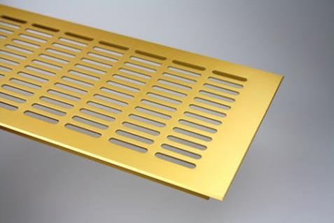 Aluminium Lüftungsgitter Stegblech - Gold eloxiert - Breite 150 mm - Länge 2000 mm