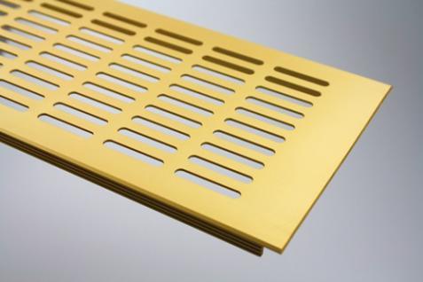 Aluminium Lüftungsgitter Stegblech Gold eloxiert Breite 130 mm Länge 1500 mm