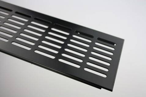 Aluminium Lüftungsgitter Stegblech - Schwarz pulverbeschichtet - Breite 100 mm - diverse Längen