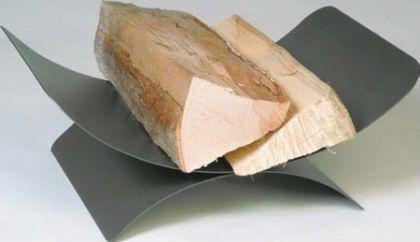 Holzkorb Kamingarnitur Kaminzubehör Kaminholzkorb - anthrazit beschichtet