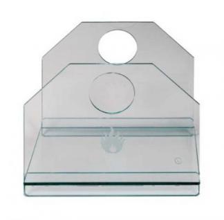 Holzkorb Kamingarnitur Kaminzubehör aus gehärtetem Glas