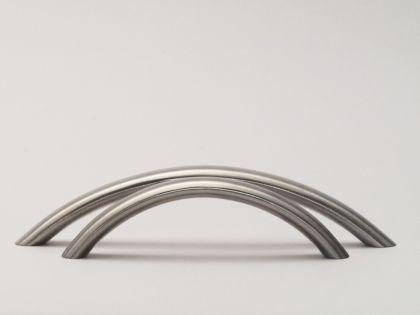 Segmentbogengriff Möbelgriff ø 10mm massiv Edelstahl matt gebürstet verschiedene Lochabstände