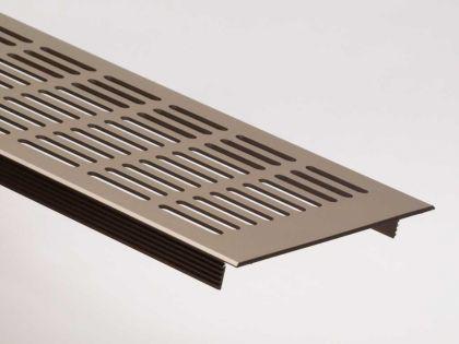 Aluminium Lüftungsgitter Stegblech Heizungsdeckel Edelstahl optik 130mm x 1000mm