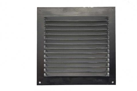 Aluminium Lüftungsgitter Silber eloxiert 150mm x 150mm mit Netz - Insektenschutz